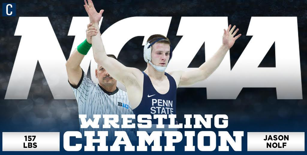 DAILY COLLEGIAN: Jason Nolf wins third straight NCAA title, becomes only the third in Penn State history to do so